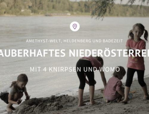 Das zauberhafte Niederösterreich mit 4 Knirpsen und WoMo